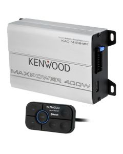 Kenwood KAC-M1824BT Bluetooth Class-D Compact 4 Channel Class-D Marine Power Amplifier - Main