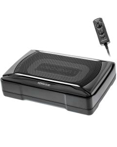 """Kenwood KSC-SW11 Powered Subwoofer Enclosure with 8-1/4"""" x 5-1/8"""" Subwoofer and Bass Remote"""
