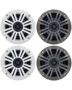 Kicker 41KM42CW KM Series 4 inch 2-Way 2 Ohm Coaxial Marine Speakers - Main