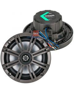 Kicker 41KM654LCW KM Series 6.5 inch Marine Speakers with LED Lighting - Top/Bottom