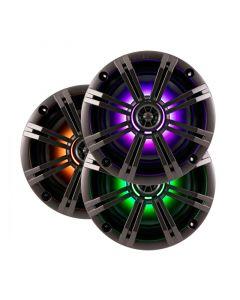 Kicker 41KM84LCW KM Series 8 inch Marine Speakers with LED Lighting - Main
