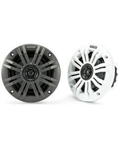 Kicker 45KM42 KM Series 4 inch 2-Way Coaxial Marine Speakers - White