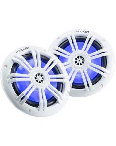Kicker 45KM604WL LED Series 6.5 inch 2-Way Coaxial Marine Speakers