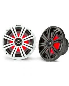 Kicker 45KM84L LED Series 8 inch 2-Way Coaxial Marine Speakers - White