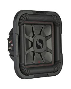 """Kicker 46L7T104 Solo-Baric 10"""" Dual 4 Ohm Square Shallow Mount Subwoofer - Main"""