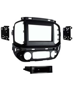 Metra 99-3016G Single or Double DIN Dash Kit for 2015 - and Up Chevrolet Colorado or GMC Canyon  - Gray finish