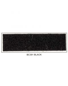 "Metra BC301 48"" Wide x 50 Yard Long Latex Backed Box Carpet - Black"