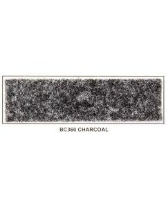 "Metra BC360-5 48"" Wide x 5 Yard Long Latex Backed Box Carpet - Charcoal"