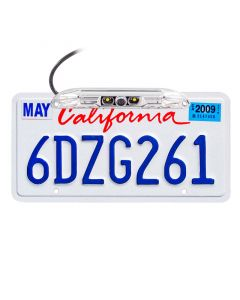 Boyo VTL400CL Chrome License Plate Camera with LED Lights - License Plate Mount