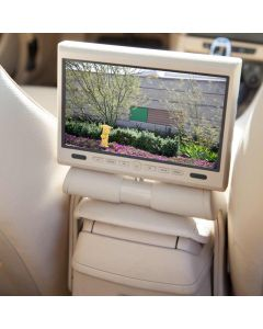 Accelevision LCDMBZ85TN 8.5 Inch Center Console Car DVD player - Installed in a BMW X1 - Closeup