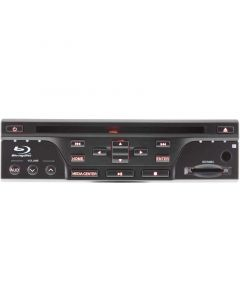 Autopro DVBR-1208 In Dash or Underseat Car Blu-Ray player - Front view with RED illumination