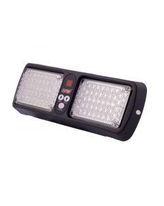 Safesight UF0050 High Power Amber LED Visor Strobe with 16 Adjustable Flash Patterns for RV, Bus or Truck