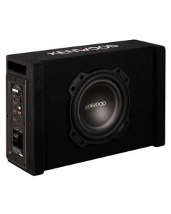 """Kenwood PA-W801B 8"""" Powered Down-firing Subwoofer in Vented Enclosure"""