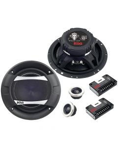 Boss Audio PC65.2C Phantom Series Component Speaker System with Electroplate-Injection Cone