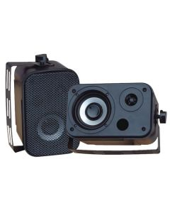 "Pyle PDWR30B 3.5"" Indoor/Outdoor Waterproof Speakers Black"