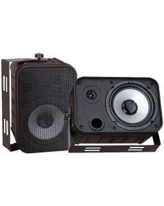 """PYLE PDWR50B 6.5"""" Indoor/Outdoor Waterproof Speakers Black"""