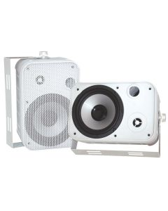 "PYLE PDWR50W 6.5"" Indoor/Outdoor Waterproof Speakers White"