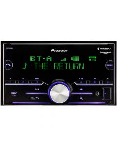 Pioneer MVH-S600BS Double-DIN In-Dash Digital Media Receiver with Bluetooth, SiriusXM Ready & 3 Pairs of High-Volt RCA Preamp Outputs - Main