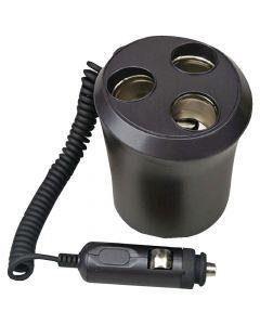 Pyle PL12VP3C Plug In Car 1-To-3 Cigarette Lighter Multiplier Cup Holder Design