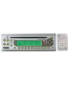 Pyle PLCD10MR In-Dash Marine CD Receiver with Full-Face Detachable Panel - White