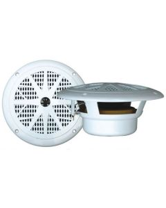 "Pyle PLMR61W 6.5"" White Waterproof Marine Stereo Speaker System - 120W"