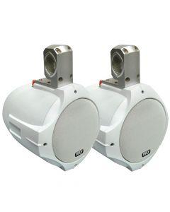 """Pyle PLMRW85 2-Way White Wakeboard Speakers 8"""" 300-Watt"""