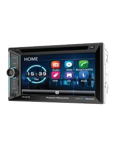 Power Acoustik PD-623B Double DIN 6.2 inch In-Dash DVD/CD/SD/AM/FM Receiver with Bluetooth