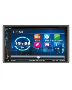 "Power Acoustik PD-627B Double DIN 6.2"" In-Dash DVD/CD/SD/AM/FM Receiver with Bluetooth and Capacitive Touchscreen"