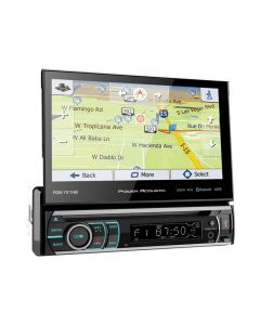 Power Acoustik PD-721B Single DIN 7 inch Flip-Up DVD/CD Receiver with Bluetooth
