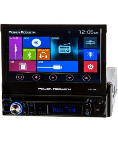 "Power Acoustik PD-724B 7"" Single DIN Car Stereo Receiver - Home Screen"
