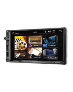 "Power Acoustik PL-700HB 7"" Double DIN Digital Media Receiver with Capacitive Touchscreen, Bluetooth and Android PhoneLink"