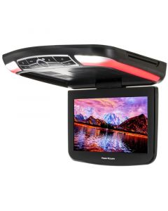 "Power Acoustik PMD-130H 13"" Overhead DVD Player with 3 Interchangeable Color Skins and LED Accents"