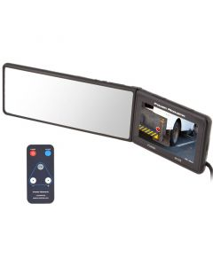 Power Acoustic PTM-430 Universal Rear View Mirror Monitor - Minimum swivel of screen