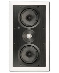 """ArchiTech PS-525 LCRS Dual 5-1/4"""" 2-Way In-Wall Speaker - Mounted vertical no grille"""