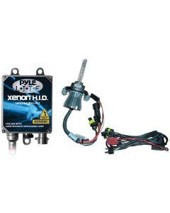 Pyle PLHIDH4K 8000K HID Xenon Driving Light System Kit Dual Beam H4 Series Bulbs