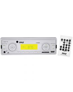 Pyle PLMR88W Marine Single-Din In-Dash Mechless Receiver - White