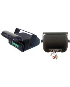 Pyle PLMRCB3 Universal Marine Stereo Housing with Full Wired Casing - Black