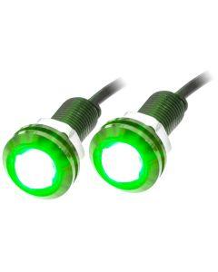 QMV LLW-G 12 Volt Black Flush Mount 3 Watt LED Light - Green