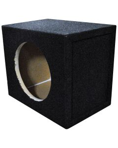 """QPower BQSOLO10 Single 10"""" Sealed Front-Firing Subwoofer Enclosure"""