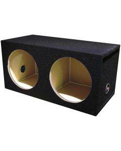 """QPower BQSOLO122HOLE Dual 12"""" Sealed Front-Firing Subwoofer Enclosure"""