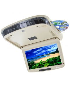 Quality Mobile Video QMV-RS10D Roof Mount LED Overhead DVD Player - DVD Loaded