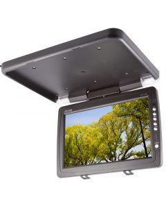"""Clarus TOP-FD14W 14"""" Overhead Flip down monitor - Right side view"""