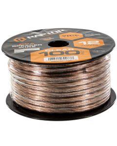 Metra Raptor RSW12-100 12-Gauge 50 Ft Clear Speaker Wire