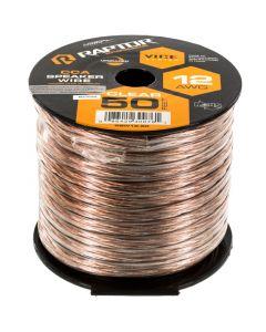 Metra Raptor RSW12-50 12 Gauge 50 Ft Clear Speaker Wire