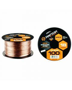 Metra Raptor RSW18-100 18-Gauge 100 Ft Clear Speaker Wire