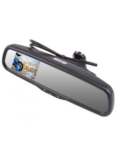 """Safesight RVMZH3500 3.5"""" OEM Replacement Rearview Mirror with 3.5"""" LCD Display for Back Up"""