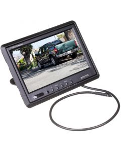 SafeSight TOP-7001 7 car monitor with headrest shroud - Left View