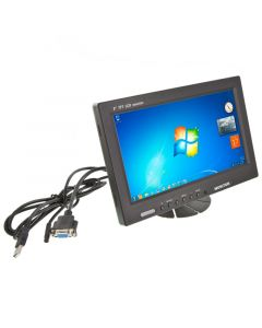 Safesight TOP-PD9001VT 9 Inch VGA Touchscreen LCD Monitor with Headrest shroud and RCA video inputs