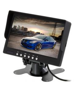 "SafeSight TOP-SS-C421 7"" Back up monitor with sun shield and mounting stand"