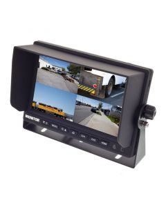 Safesight TOP-SS-D7004Q 7 Inch Quad Screen LCD Monitor - With sun shade installed